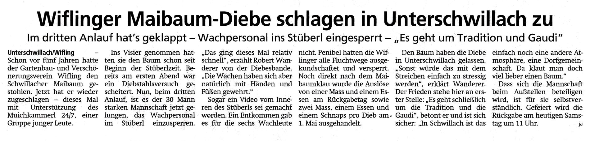 Zeitungsartikel im Münchner Merkur 27./28. April 2019 ...
